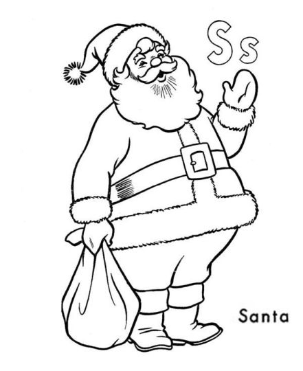 Santa Claus Colouring Pages 7
