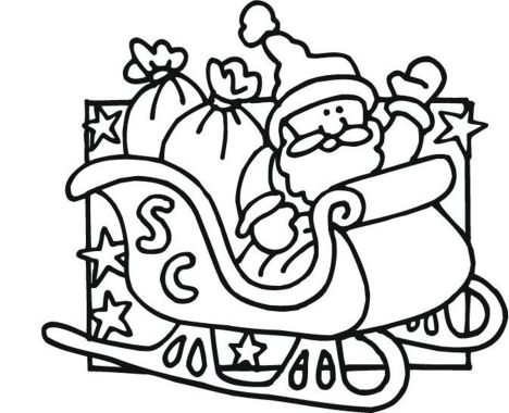 Santa Claus Colouring Pages 71