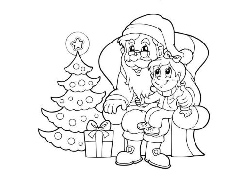 Santa Claus Colouring Pages 72