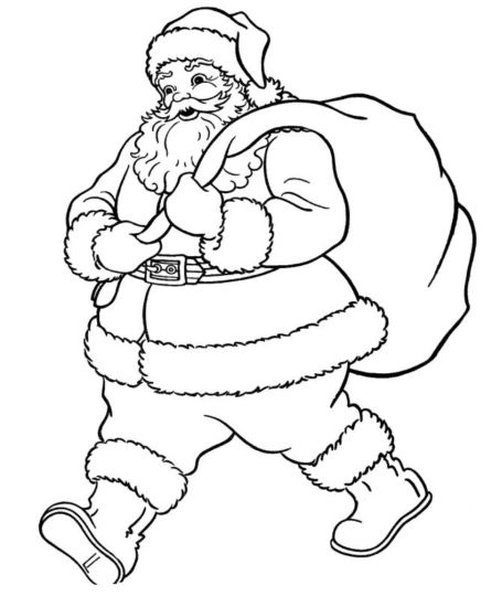 Santa Claus Colouring Pages 73