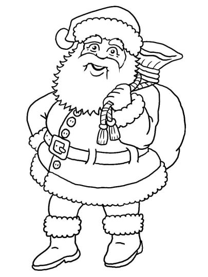 Santa Claus Colouring Pages 74
