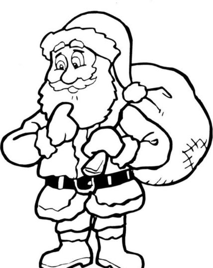 Santa Claus Colouring Pages 77