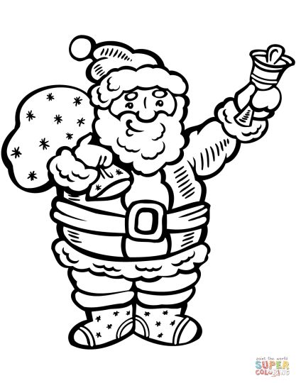 Santa Claus Colouring Pages 78