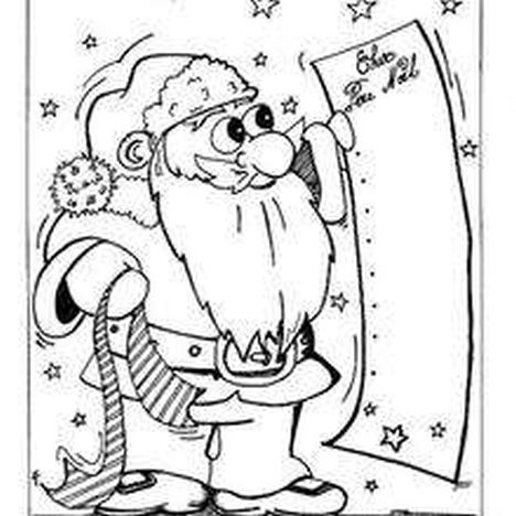 Santa Claus Colouring Pages 8