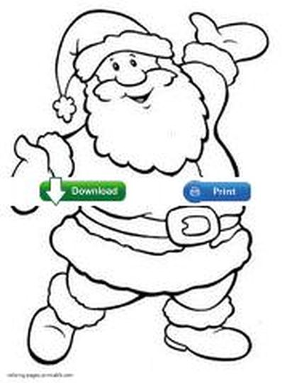 Santa Claus Colouring Pages 81