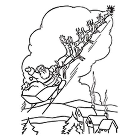 Santa Claus Colouring Pages 86