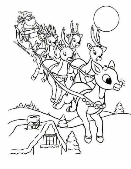 Santa Claus Colouring Pages 87