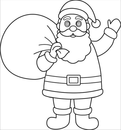Santa Claus Colouring Pages 89