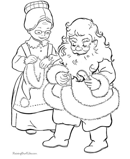Santa Claus Colouring Pages 9