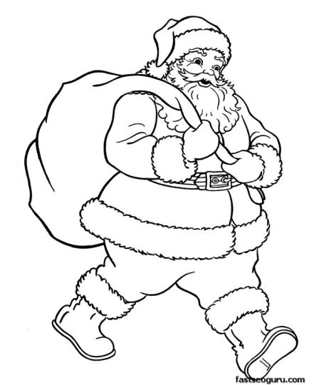 Santa Claus Colouring Pages 92