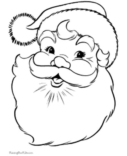 Santa Claus Colouring Pages 95
