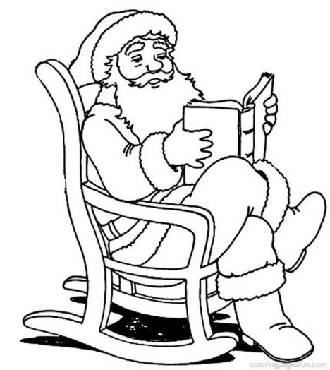 Santa Claus Colouring Pages 96