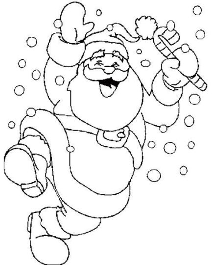 Santa Claus Colouring Pages 97