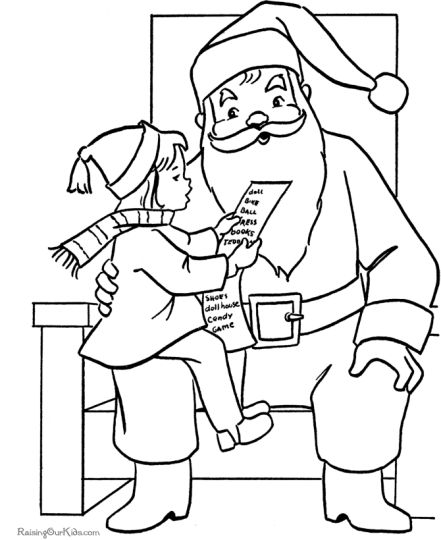Santa Claus Colouring Pages 98