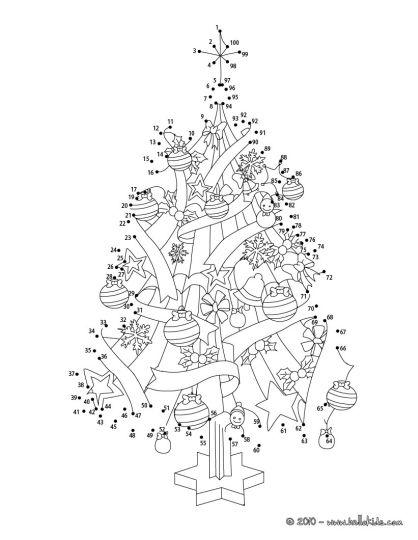 christmas dot to dot printables 1