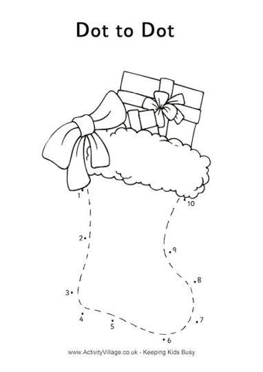christmas dot to dot printables 17