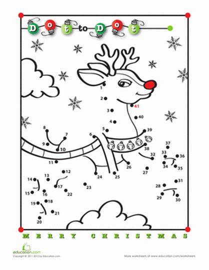 christmas dot to dot printables 49