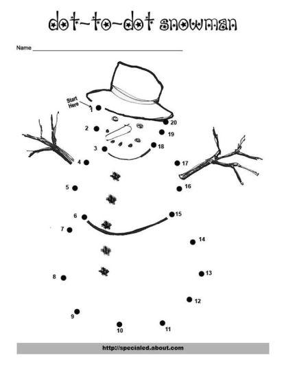 christmas dot to dot printables 9