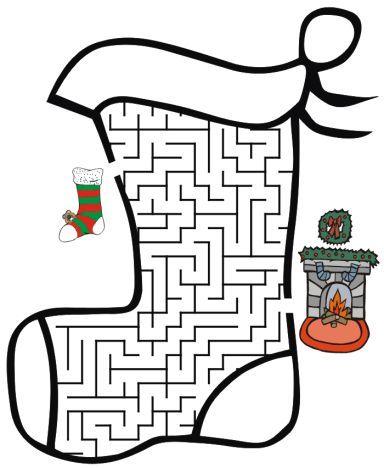 Christmas maze for kids 1
