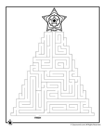 Christmas maze for kids 10