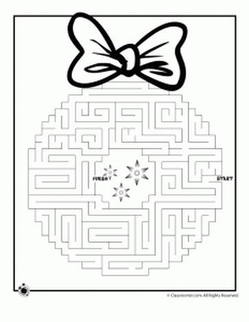 Christmas maze for kids 11