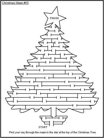 Christmas maze for kids 13
