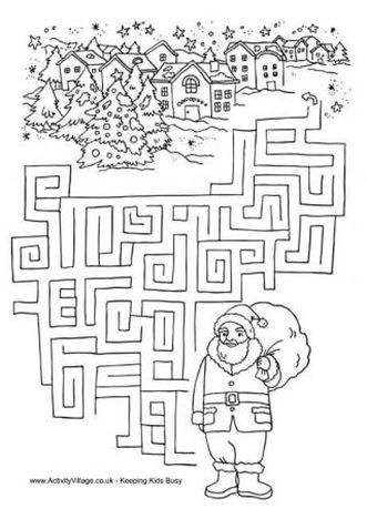 Christmas maze for kids 14