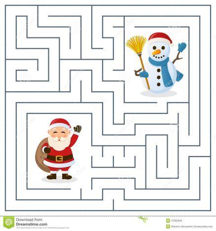 Christmas maze for kids 15