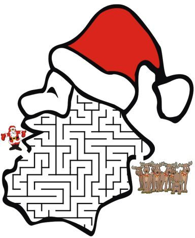 Christmas maze for kids 16