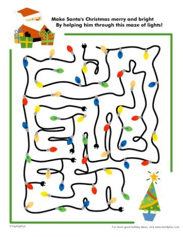 Christmas maze for kids 2
