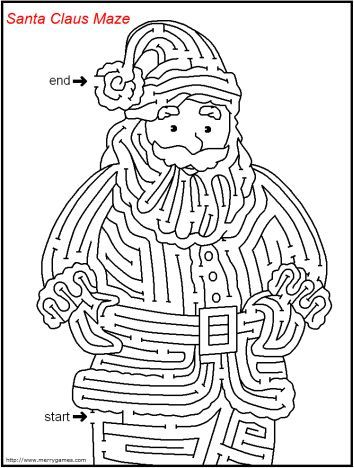 Christmas maze for kids 3