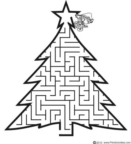 Christmas maze for kids 5