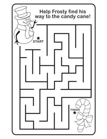 Christmas maze for kids 6