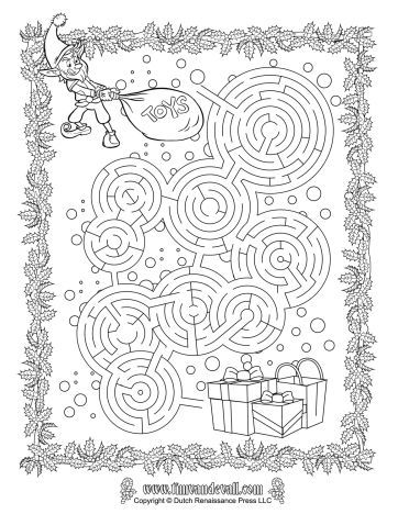 Christmas maze for kids 7