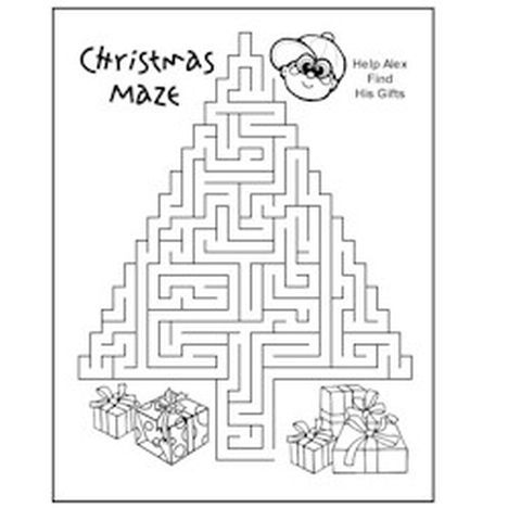 Christmas maze for kids 8