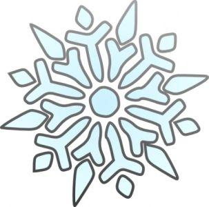 Christmas Snowflakes Clipart 1