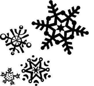 Christmas Snowflakes Clipart 10