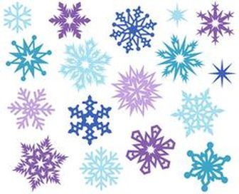 Christmas Snowflakes Clipart 16