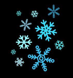 Christmas Snowflakes Clipart 8
