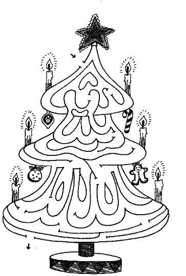 christmas tree maze 10