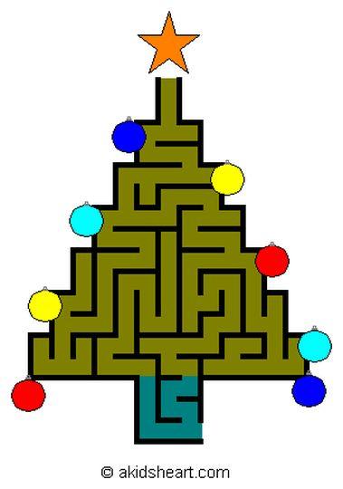 christmas tree maze 11