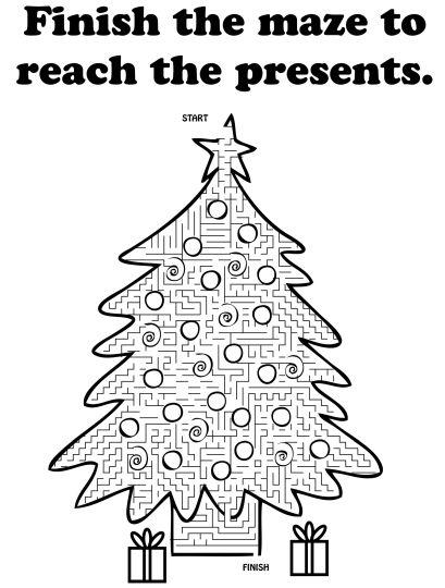 christmas tree maze 12