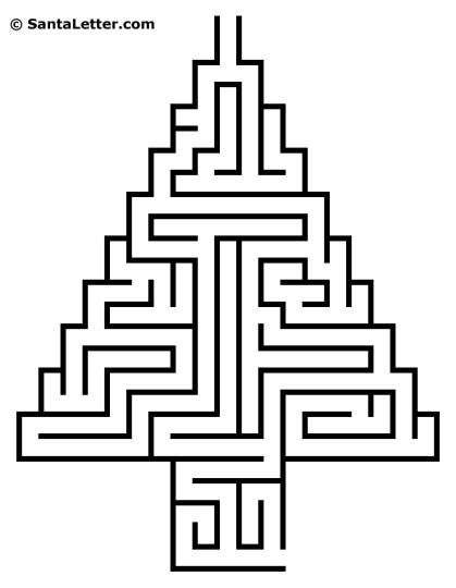 christmas tree maze 4