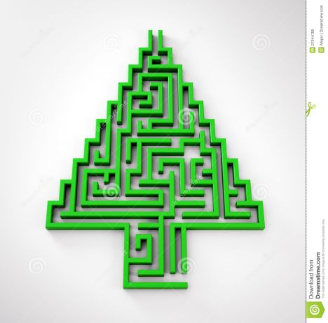 christmas tree maze 6
