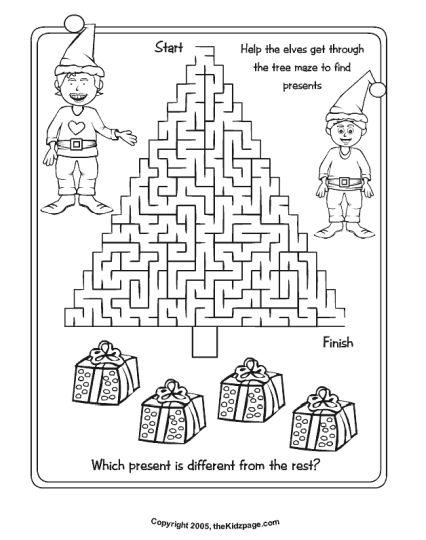 christmas tree maze 7