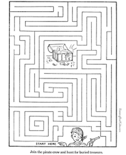 printable mazes for 5 year olds 1