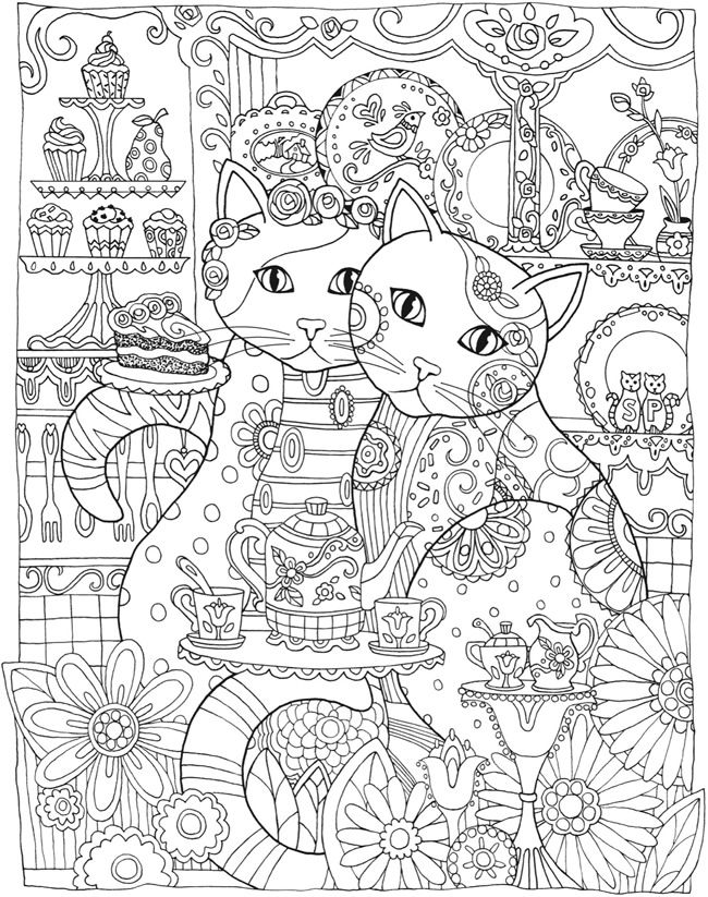 Cat Coloring Pages For Adults 12