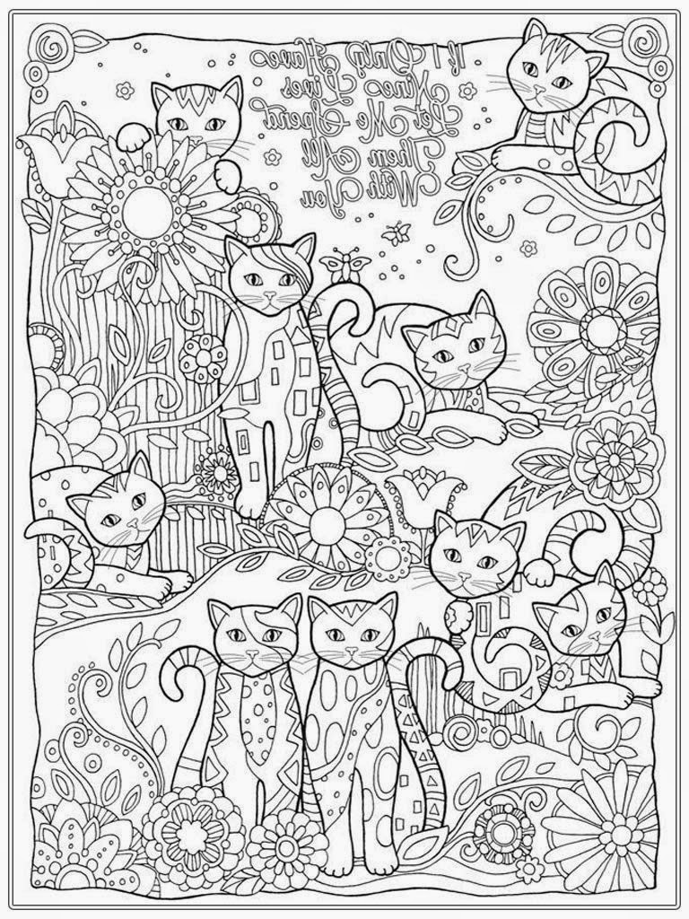 Cat Coloring Pages For Adults 14