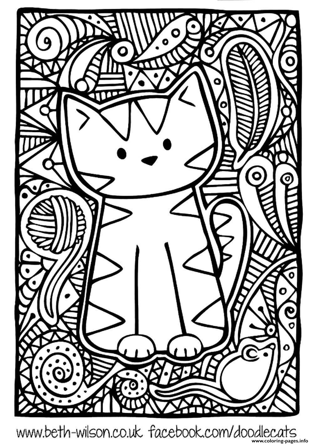 Cat Coloring Pages For Adults 18