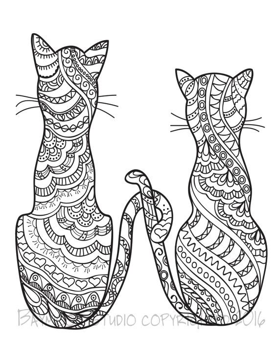Cat Coloring Pages For Adults - Part 3